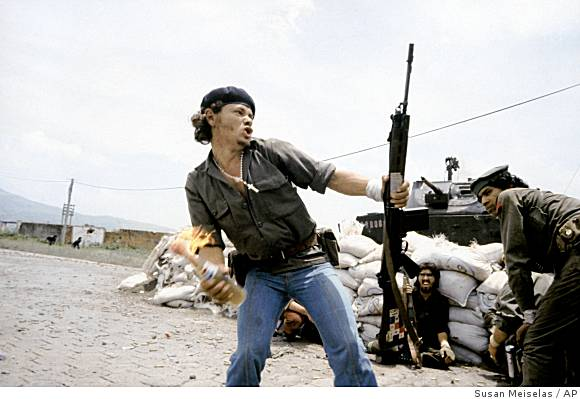 "The ""Molotov Man,"" 1979, by Susan Meiselas"